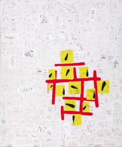 """""""Red/Yellow""""Large Abstraction, Red, Yellow, Black, Cream, White, Pop Sensibility"""