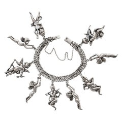 Margot De Taxco Cherub Charm Bracelet Iconic Rare Book Piece