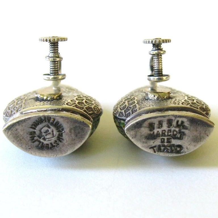 Margot De Taxco Enamel Snake Earrings  For Sale 2