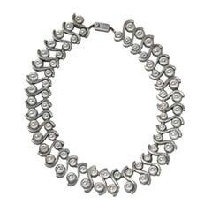 Margot De Taxco Sterling Silver Modernist Necklace