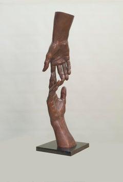 Origin of the Question Bronze Sculpture Contemporary Hands