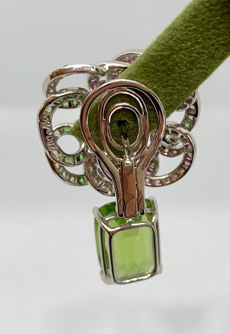 Margot McKinney 18K Gold Spinel Diamonds Tsavorites, Sapphires, Peridot Earrings In New Condition For Sale In Brisbane AU , Queensland