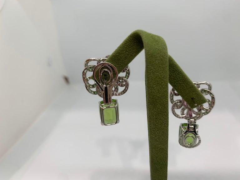 Women's Margot McKinney 18K Gold Spinel Diamonds Tsavorites, Sapphires, Peridot Earrings For Sale