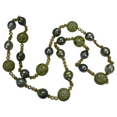 """Margot McKinney South Sea Pearl, Gemstone Diamond Necklace """"Carnival Collection"""""""