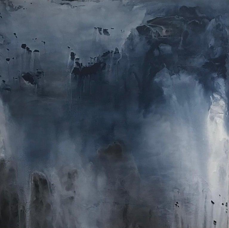 Margot Nimiroski Abstract Painting - Breaking Waves