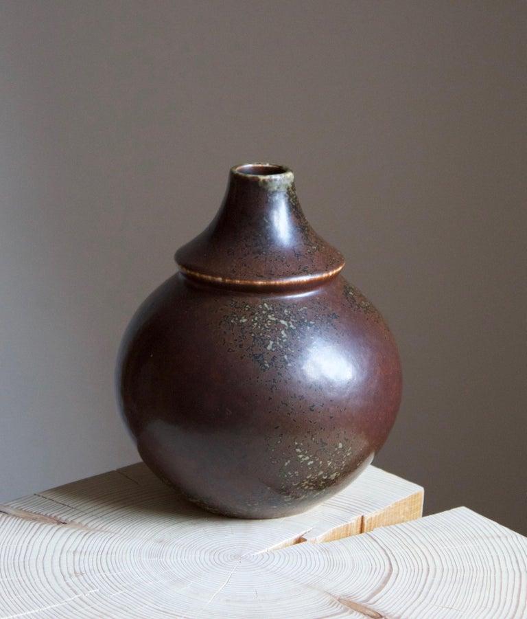 A freeform vase. Designed by Margot Öjemark Wiijk, for Rörstrand, Sweden, early 1960s.