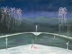 1940s Moonlight Dance - Figurative Abstract
