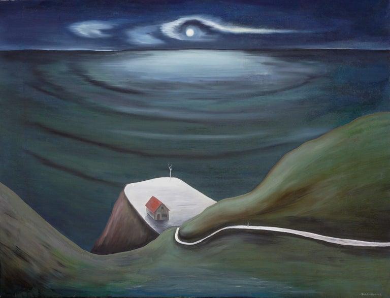 Marguerite Blasingame Landscape Painting - Cliff House Surreal Hawaiian Landscape Blasingame