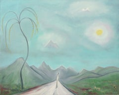 Road Less Traveled - Mid Century Figurative Abstract