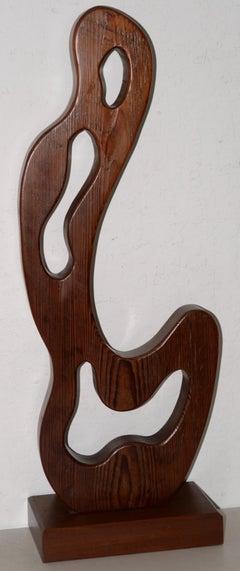 Marguerite Louis Blasingame Abstract Figure Wooden Sculpture c.1940s
