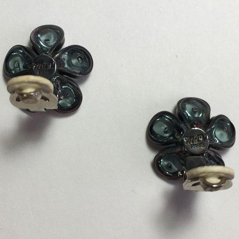 Women's Marguerite De Valois Flower Clip Earrings For Sale