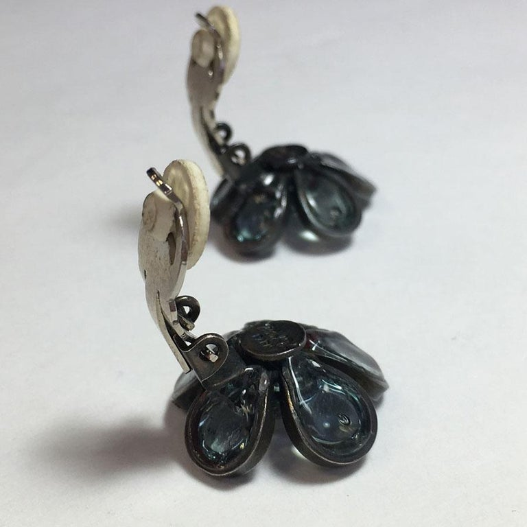 Marguerite De Valois Flower Clip Earrings For Sale 2