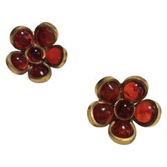 Marguerite De Valois Flower Clip Earrings