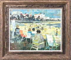 On The Beach Modern Impressionist Oil Painting