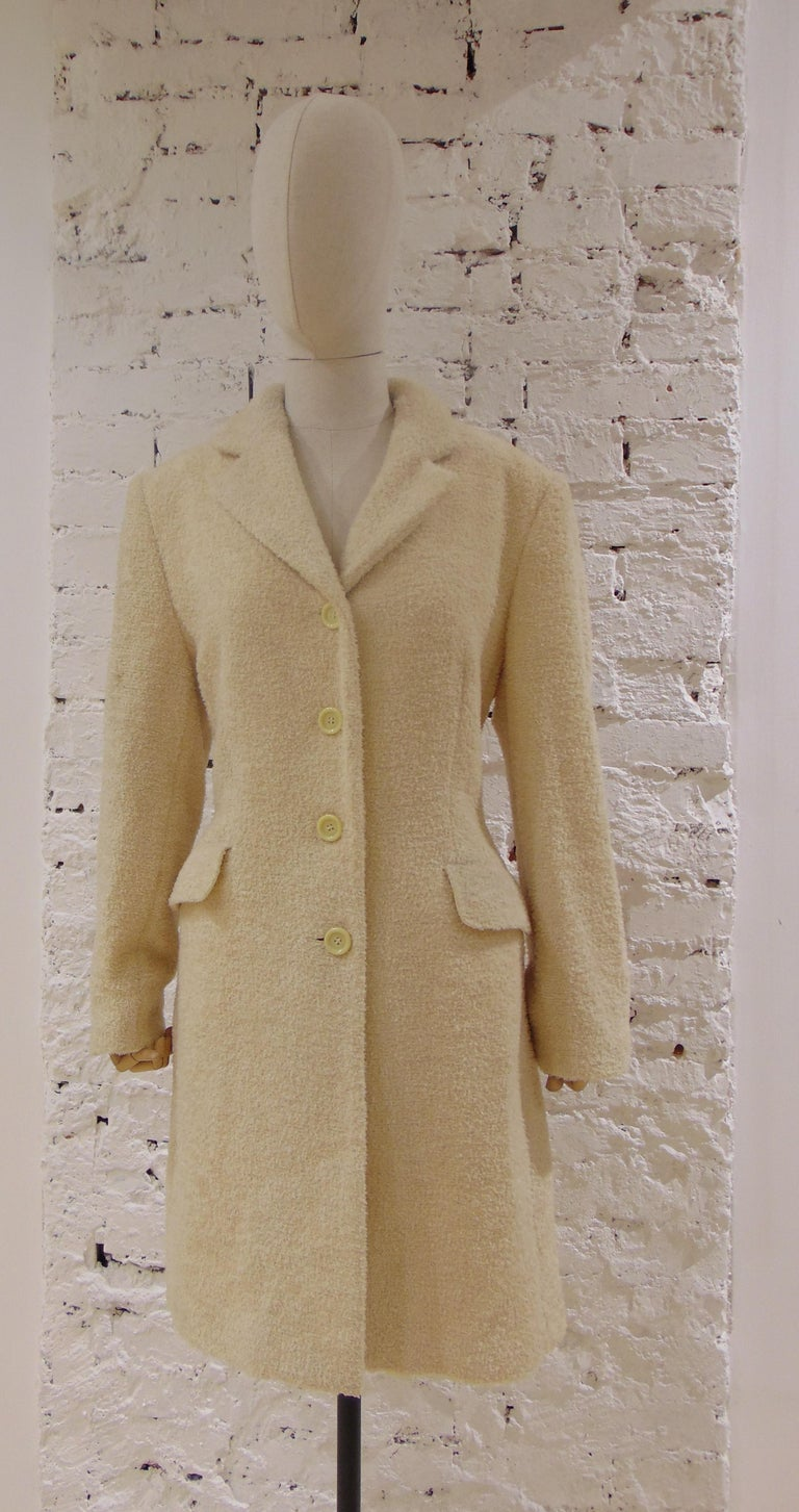 Mari Beije Wool Coat totally made in italy in size 44
