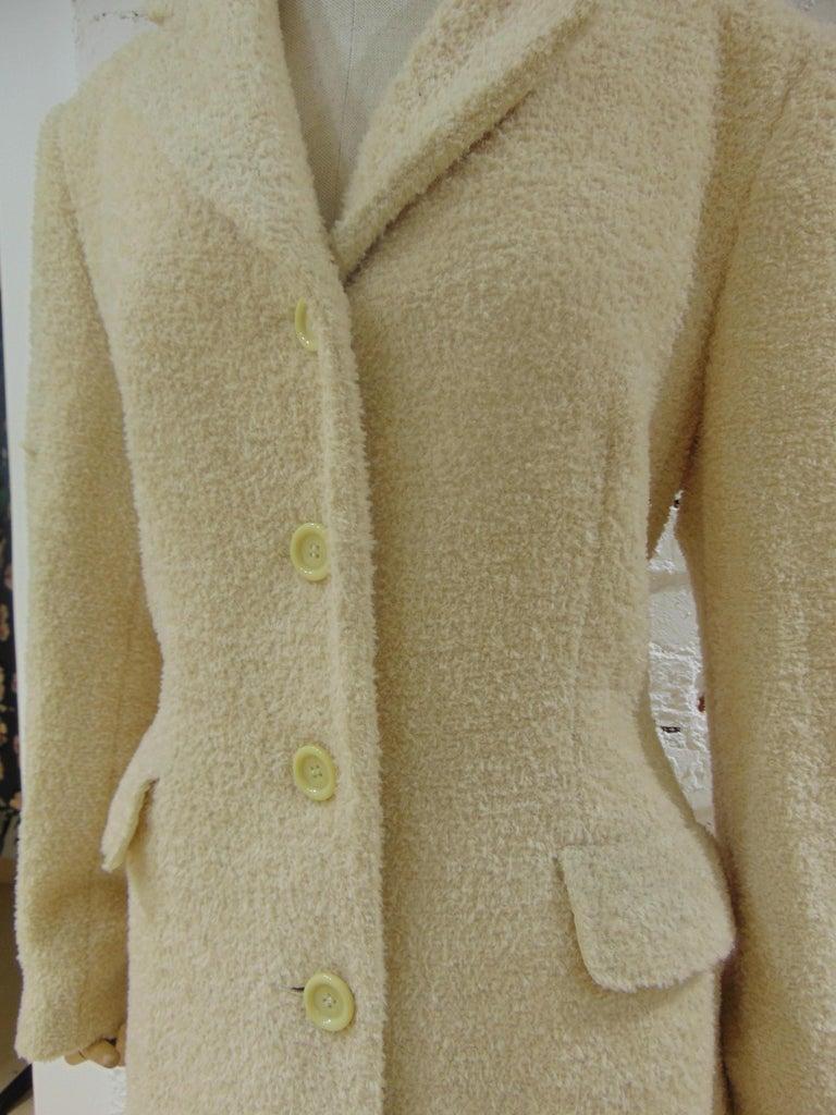 Brown Mari Beije Wool Coat For Sale