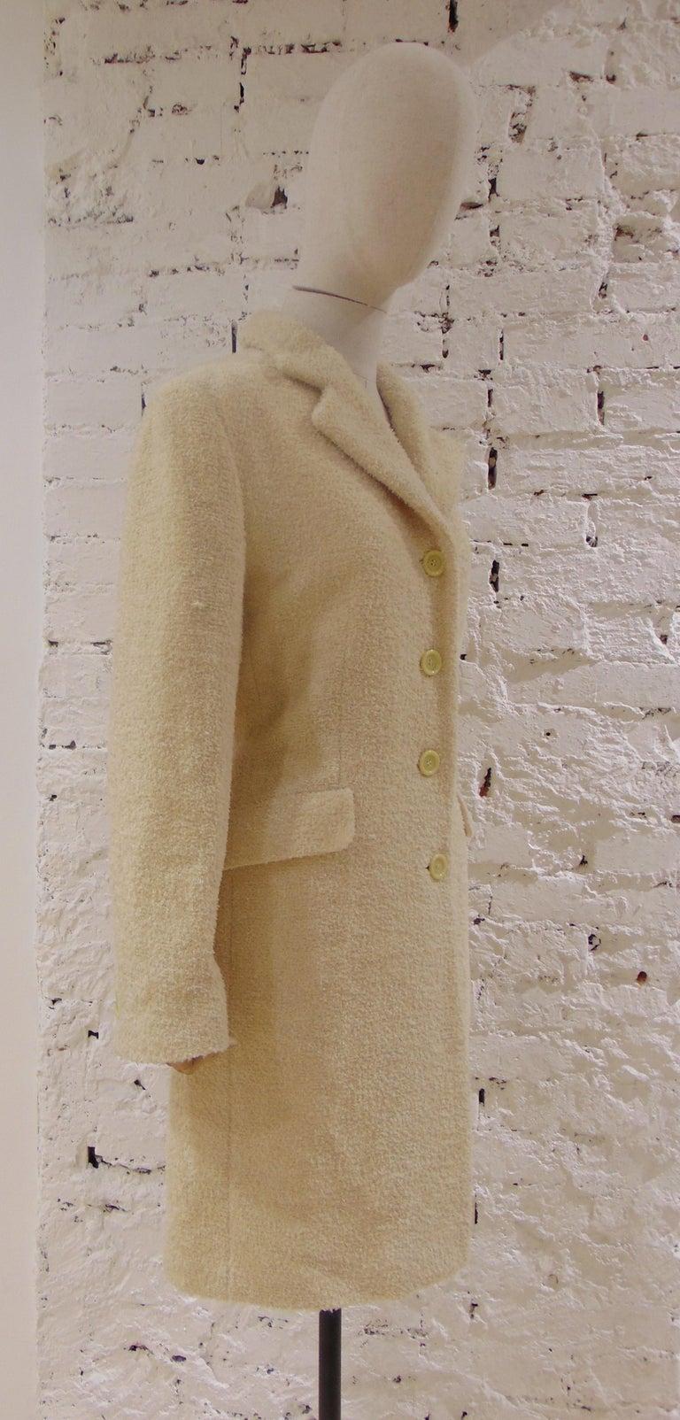 Mari Beije Wool Coat In Excellent Condition For Sale In Capri, IT