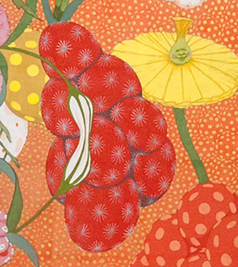 Arcoíris Rojo - 21st Century, Contemporary, Figurative Painting, Japanese Art For Sale 1