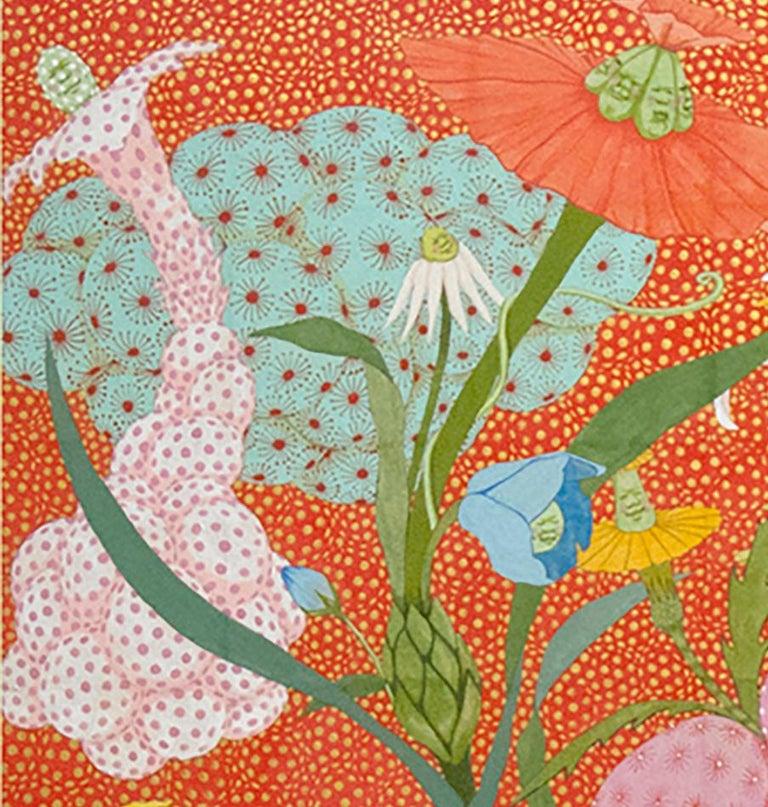 Arcoíris Rojo - 21st Century, Contemporary, Figurative Painting, Japanese Art For Sale 2