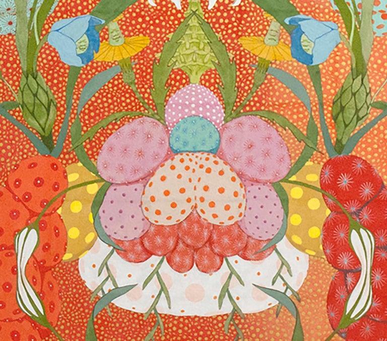 Arcoíris Rojo - 21st Century, Contemporary, Figurative Painting, Japanese Art For Sale 3