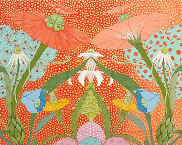 Arcoíris Rojo - 21st Century, Contemporary, Figurative Painting, Japanese Art For Sale 5