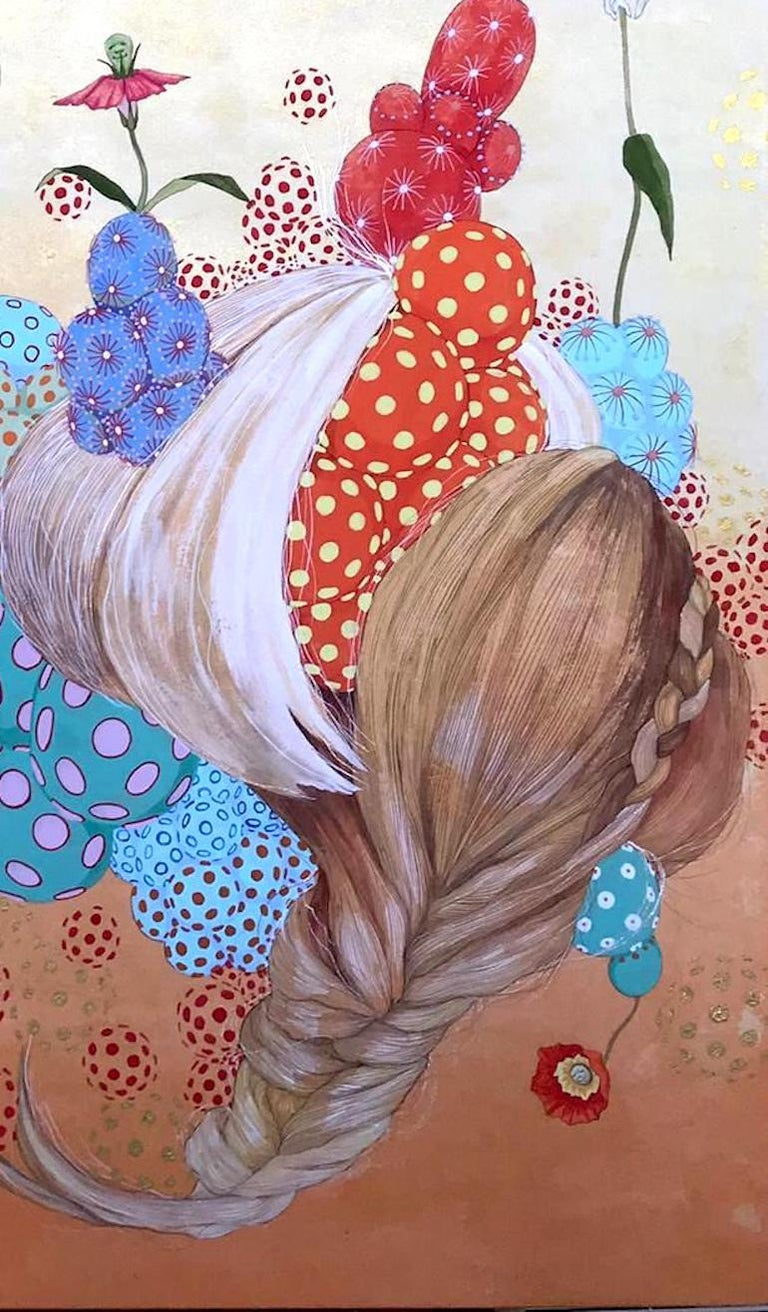 Energía invisible - 21st Century, Contemporary,Figurative Painting, Japanese Art For Sale 1