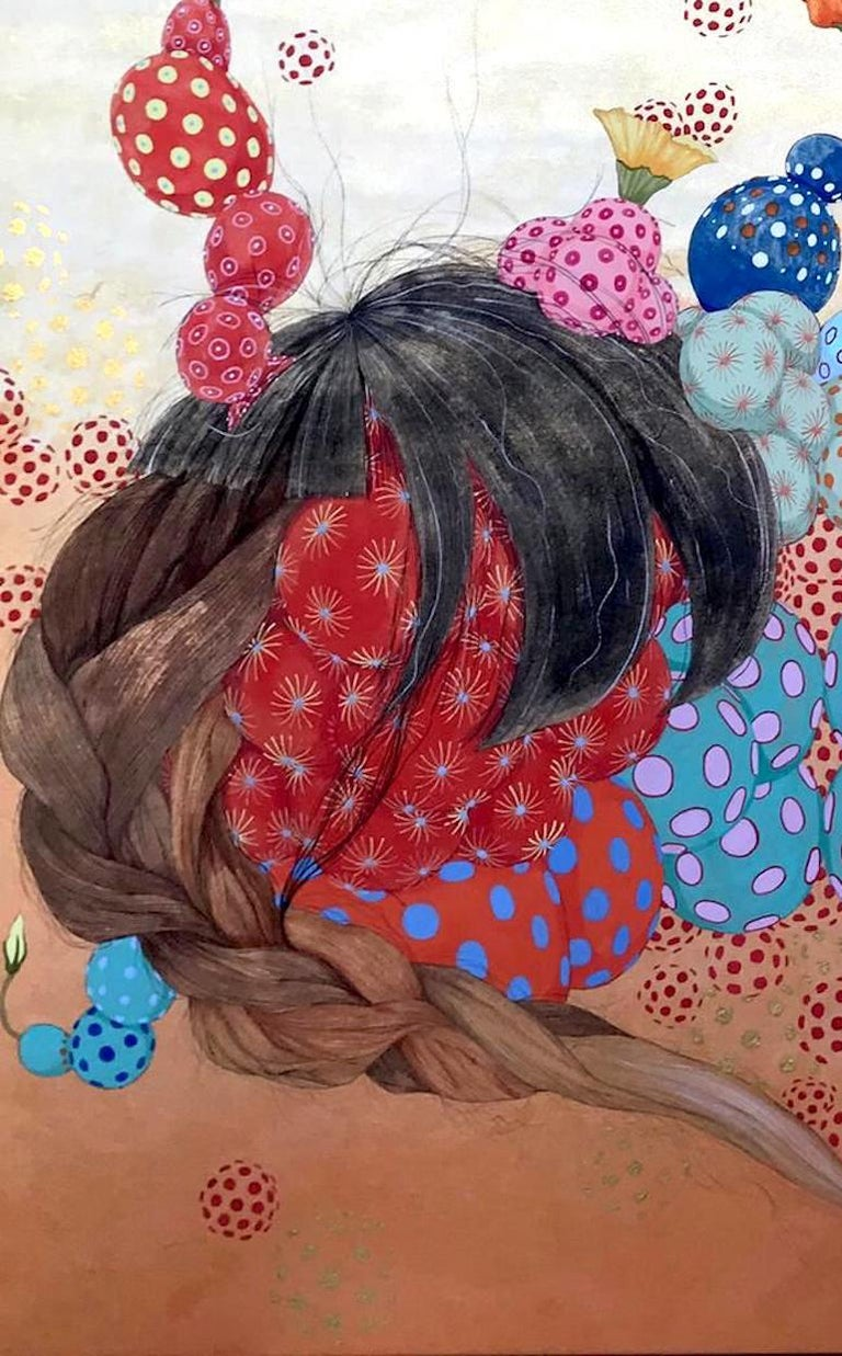 Energía invisible - 21st Century, Contemporary,Figurative Painting, Japanese Art For Sale 2