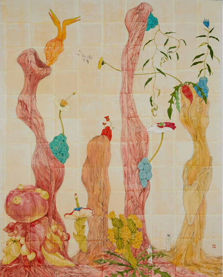 Mari Ito was born in Tokyo, Japan in 1980. She majored in Nihonga, Japanese-style painting made with traditional practices, techniques and materials. She moved to Barcelona (Spain) in 2006. Since then she has taken up residence here and with Nihonga