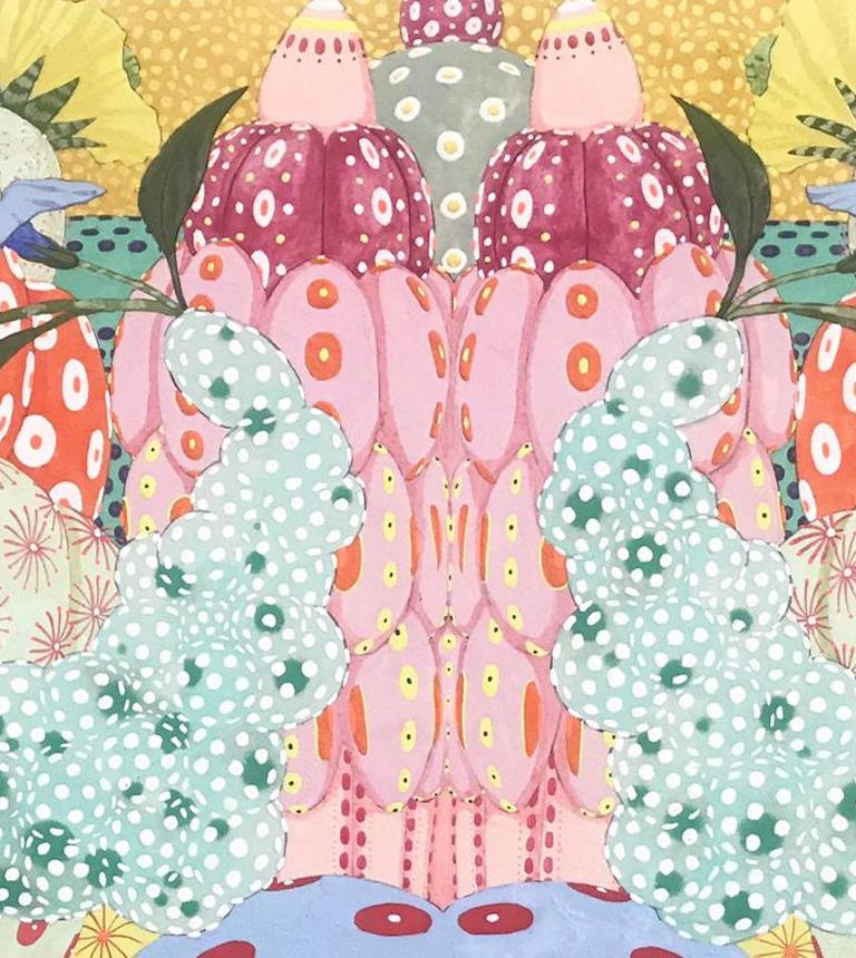 Ritmo de alegria - 21st Century, Contemporary, Figurative Painting, Japanese Art For Sale 2