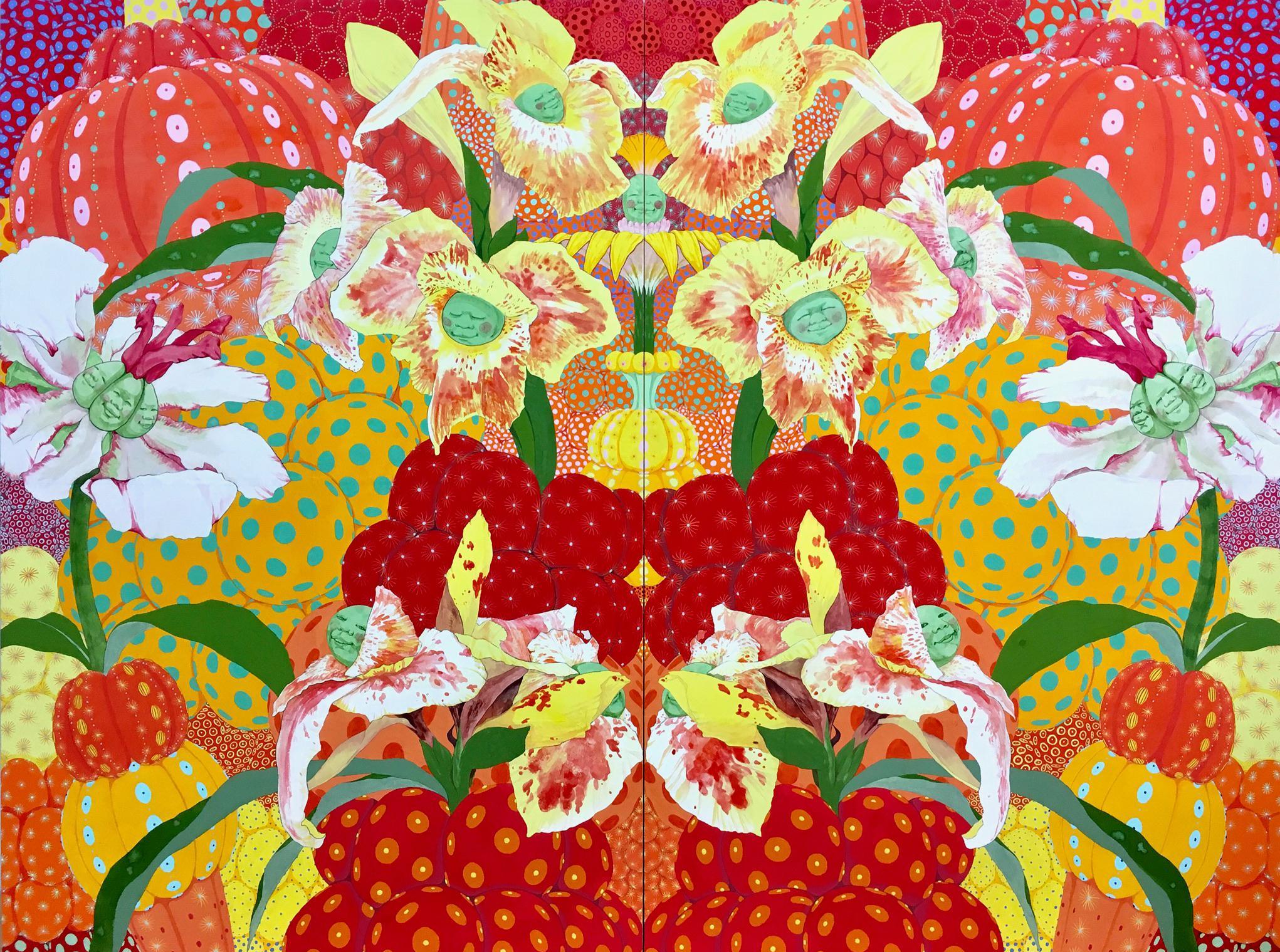 Libertad - 21st Century, Contemporary, Figurative, Japanese, Relief Print, Glass