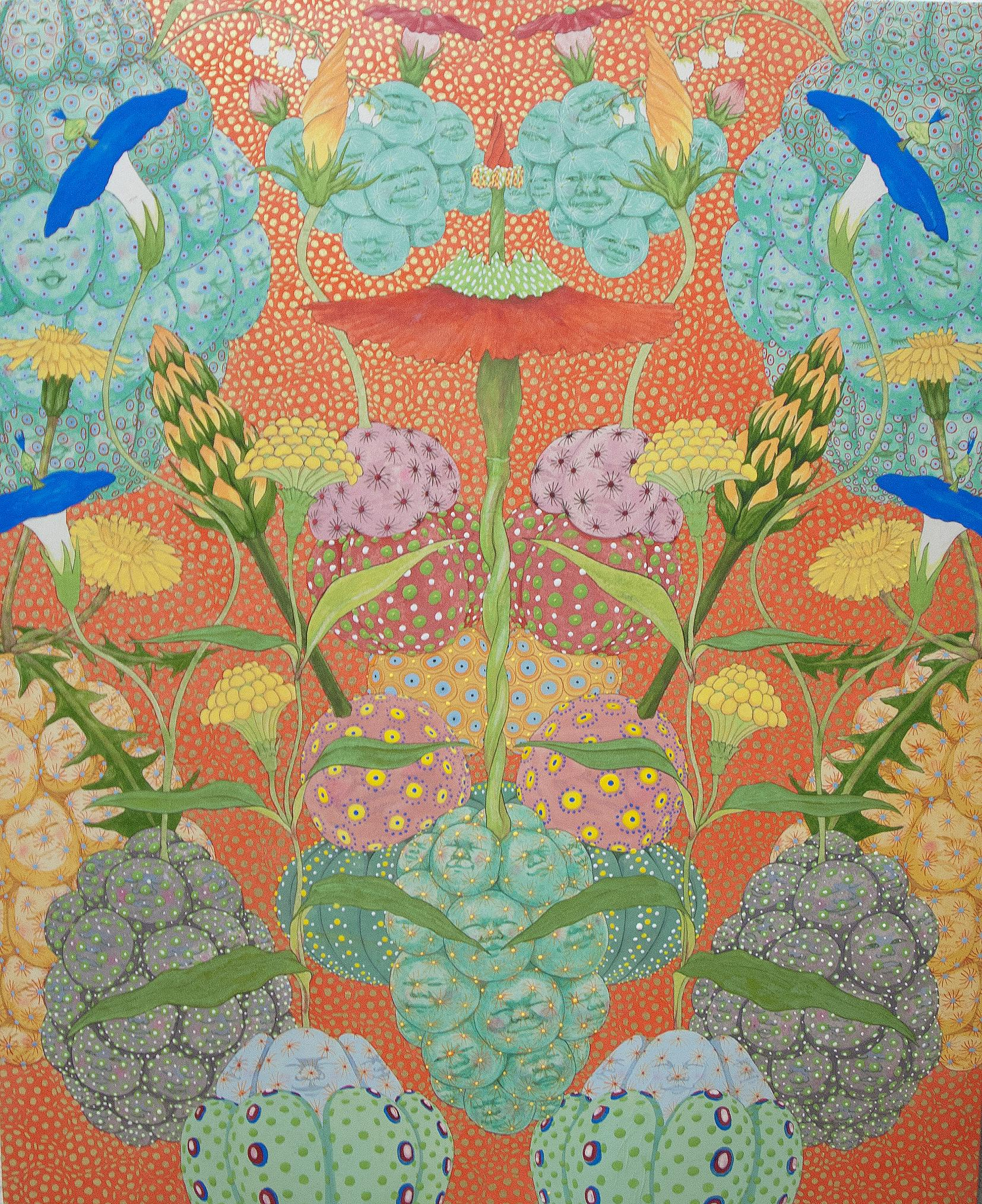 Nacimiento - 21st Cent, Contemporary, Figurative, Japanese, Relief Print, Glass