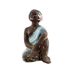 Mari Simmulson Figure, Ceramics, Upsala-Ekeby, Exotic Woman, 1960s