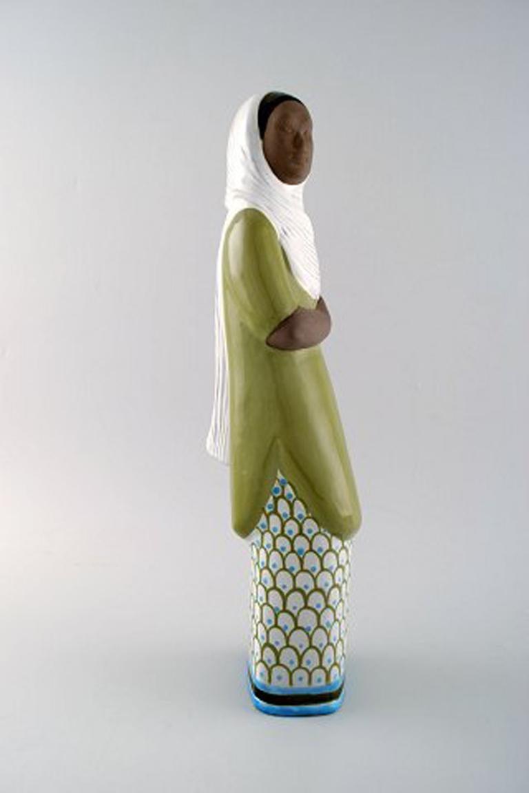 Swedish Mari Simmulson Figure, Ceramics, Upsala-Ekeby, Indonesian Woman For Sale