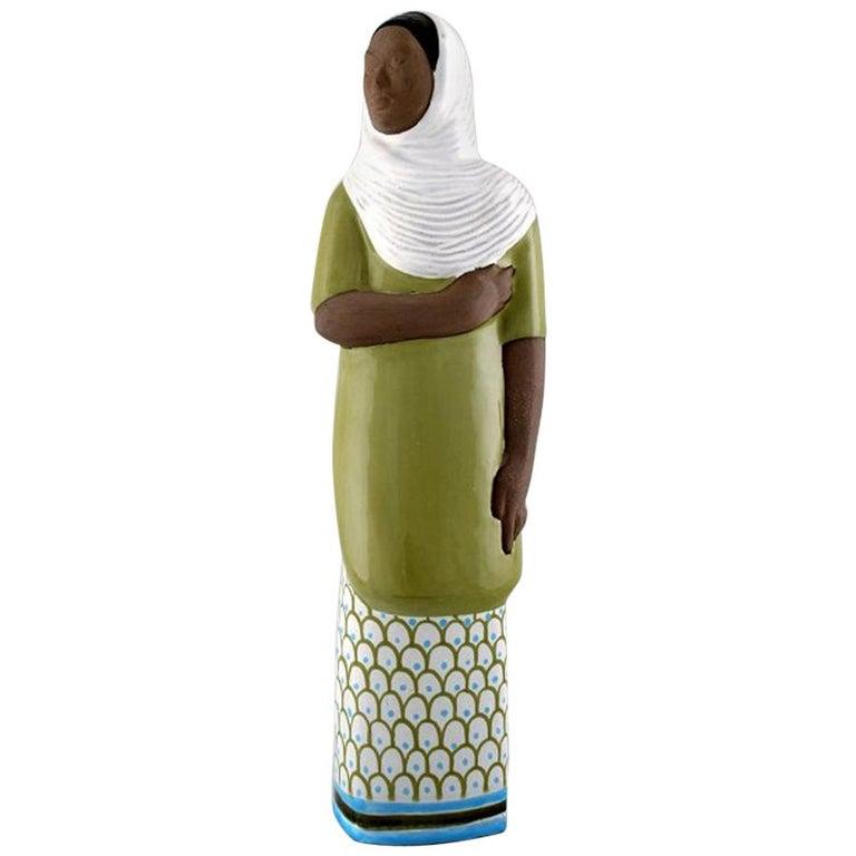 Mari Simmulson Figure, Ceramics, Upsala-Ekeby, Indonesian Woman For Sale