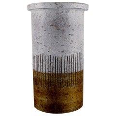 Mari Simmulson for Upsala-Ekeby, Cylindrical Vase in Glazed Ceramics