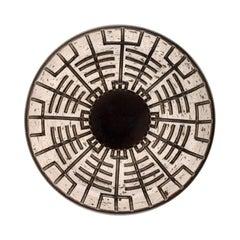 Mari Simmulson for Upsala-Ekeby, Dish in Glazed Stoneware with Geometric Pattern