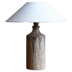 Mari Simmulson, Table Lamp, Grey Brown Ceramic, Sweden, Upsala Ekeby, 1950s