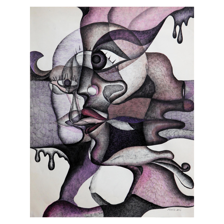"Maria Astadjov Modern Abstract Painting titled ""The Taste of Tears"" 2014"