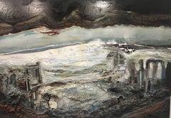 Ciutat - original abrstract acrylic painting