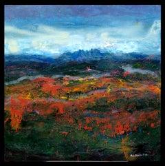 """""""AMAPOLAS"""" original abstract mixed media painting"""