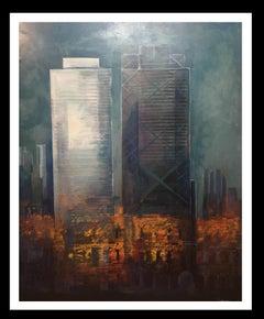 """Barcelona"" original expressionist acrylic painting"