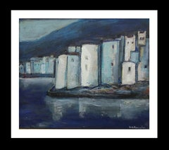 Cadaques original expressionist acrylic painting