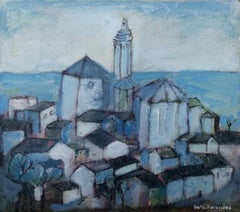 Cadaques original expressionist mixed media painting