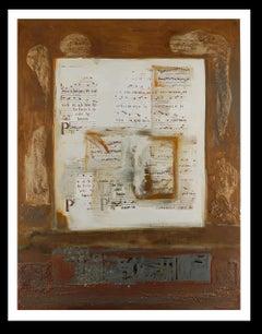 """Cantic del temple"" original abstract mixed media painting"