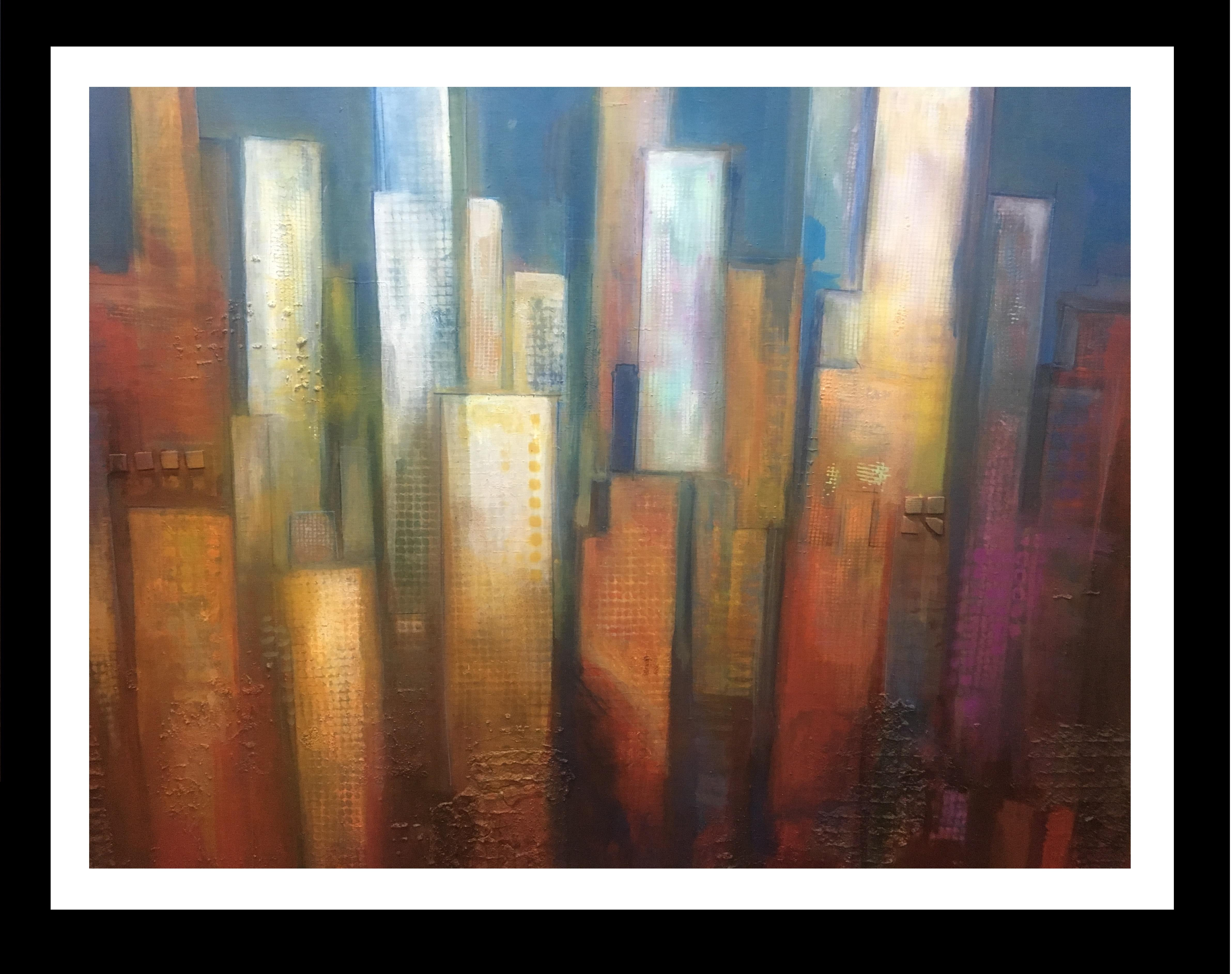 """Cap vespre"" original expressionist acrylic painting"