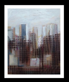 Chicago original expressionist acrylic painting
