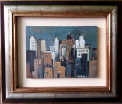 chicago. original expressionist acrylic painting