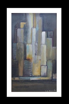 City original expressionist acrylic painting