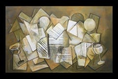 Geometries original expressionist acrylic  canvas painting