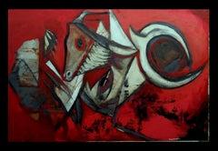 Homenatge a Picasso. original expressionist acrylic painting